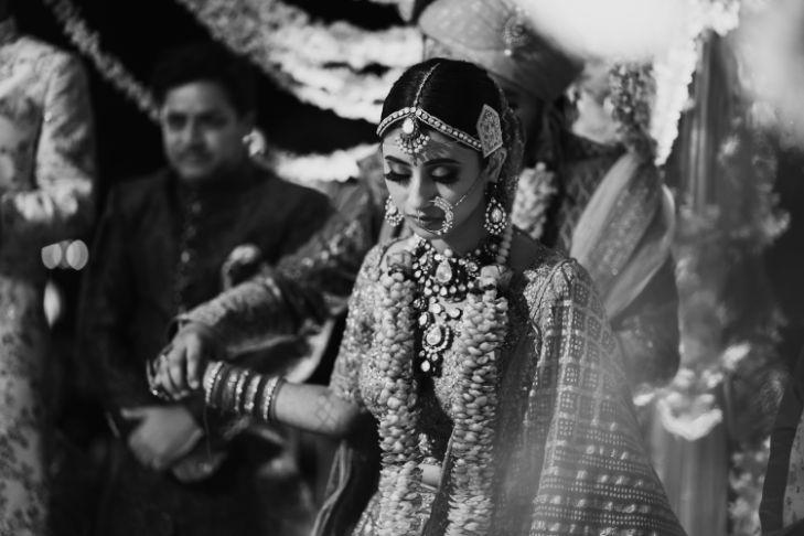 candid phera ceremony photo | Destination Wedding in Udaipur