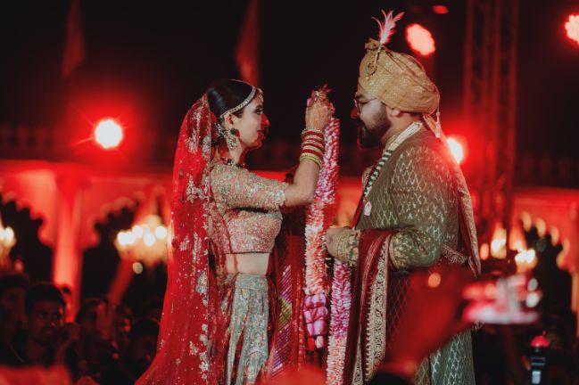 jaimala ceremony | Destination Wedding in Udaipur