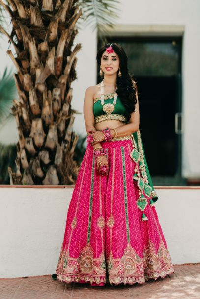 bride in her mothers wedding outfit
