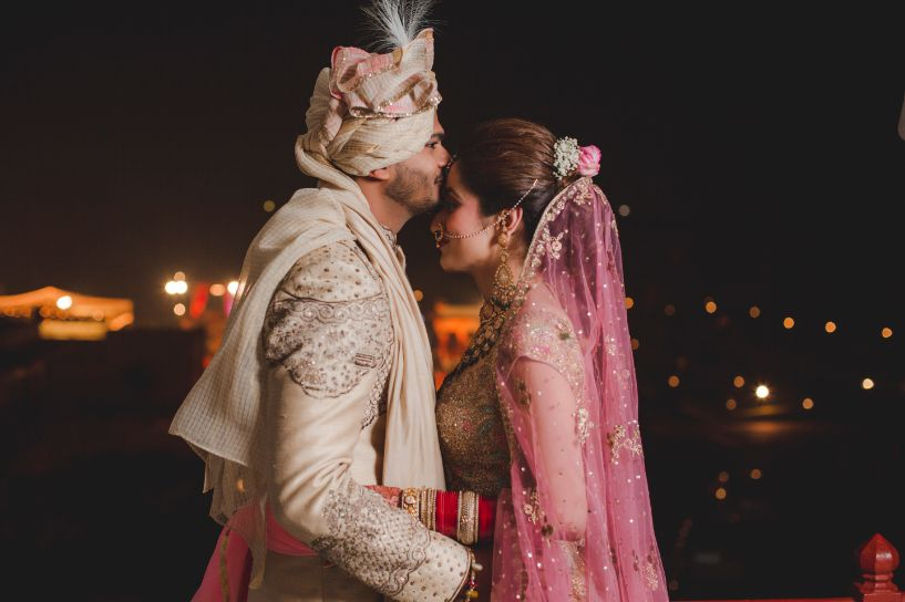 indian bride and groom photo poses