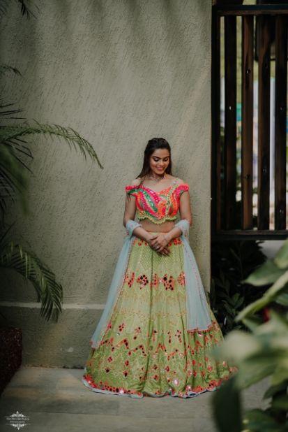 bridal lehnga | lehenga for mehendi ceremony