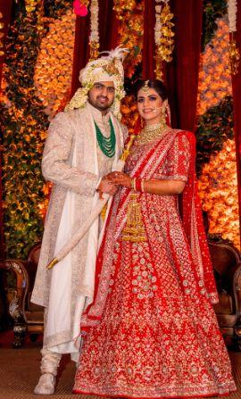 bridal kaleere | bridal makeup | Anita Dongre Wedding Lehenga