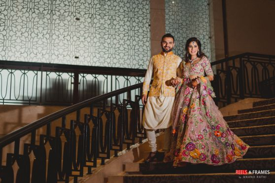bride and groom entry | mehendi day ceremony | Major Mehendi Outfit Goals