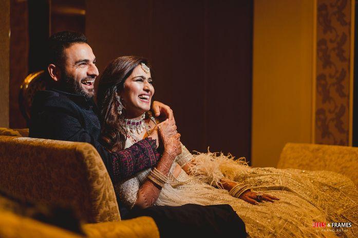 happy couple   indian wedding diaries   Major Mehendi Outfit Goals