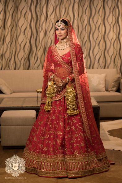 stunning red lehenga