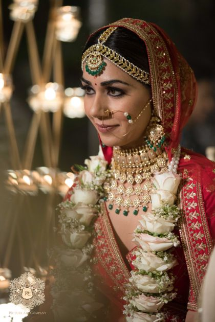 indian bridal mathapatti and nath in trend