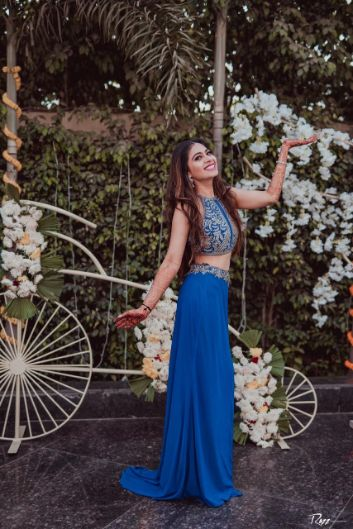 mehendi day | blue gown