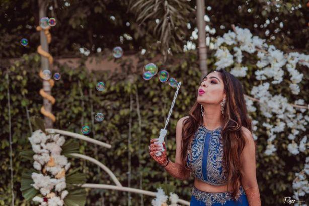 bridal photo shoot | beautiful blue dress