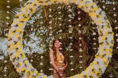 haldi decor   floral decor ideas