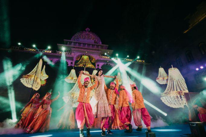 brides dance performace | Destination Wedding in Udaipur