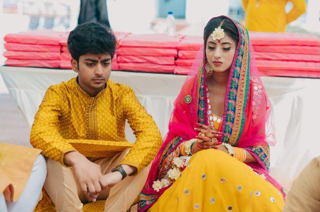 brides haldi ceremony | indian weddings