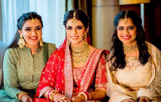 bride | bridesmaids | outfit detilas | Anita Dongre Wedding Lehenga