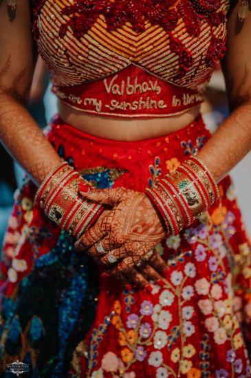 bridal blouse | self cutomized | Stunning Colourful Wedding Lehenga