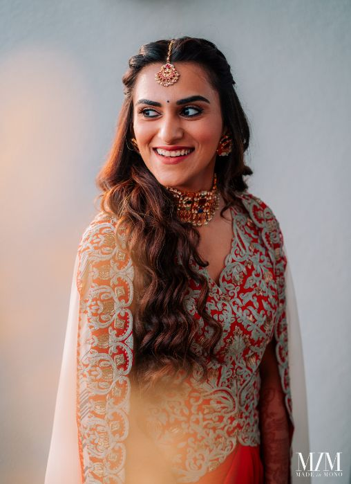 indian bridal look from mehendi day