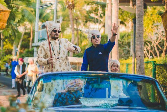 groom entry in a car | groom | Beach Wedding in Hua Hin entry ideas