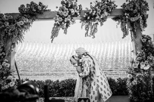 sealing it with a kiss | Beach Wedding in Hua Hin