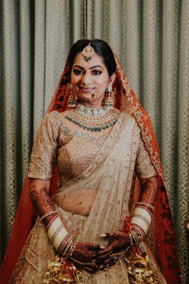beautifully drapped ridal dupatta ideas   Wedding at Ramoji Film City