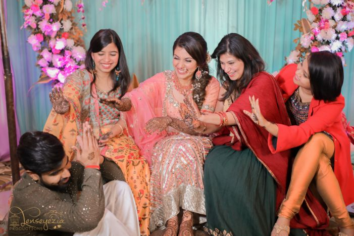 cute photoshoot of indian bride and groom |