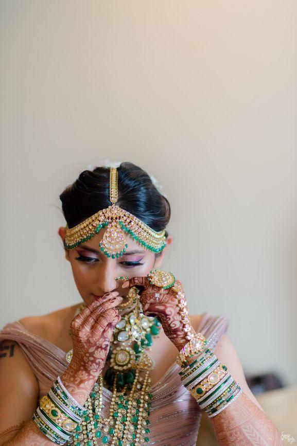 wedding jewellery | indian wedding real indian wedding | pink lehenga | indian wedding bridal lehenga | designer | Designer wedding Lehenga Modern design wedding lehenga | modern design indian bridal lehenga #wittyvows #indianwedding #indianbride #realindianwedding #destinationwedding  || #polki