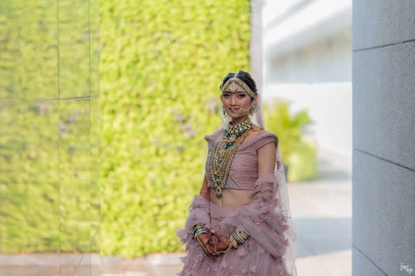 bridal portraits | indian wedding real indian wedding | pink lehenga | indian wedding bridal lehenga | designer | Designer wedding Lehenga Modern design wedding lehenga | modern design indian bridal lehenga #wittyvows #indianwedding #indianbride #realindianwedding #destinationwedding |