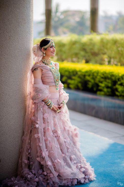 indian wedding real indian wedding | pink lehenga | indian wedding bridal lehenga | designer | Designer wedding Lehenga Modern design wedding lehenga | modern design indian bridal lehenga #wittyvows #indianwedding #indianbride #realindianwedding #destinationwedding  |