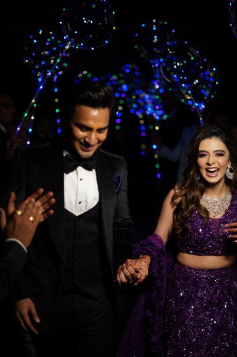 indian bride and groom post wedding look