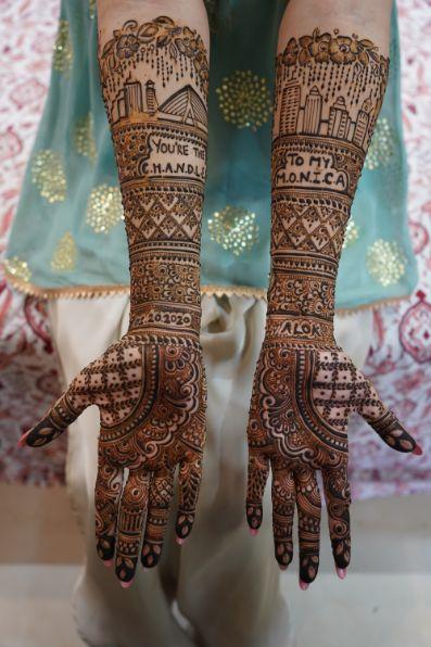 indian brides mehendi | mehendi day function