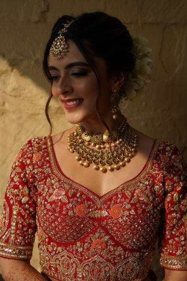 indian bridal bluse designs   indian bridal jewellery   Prettiest Mumbai Wedding