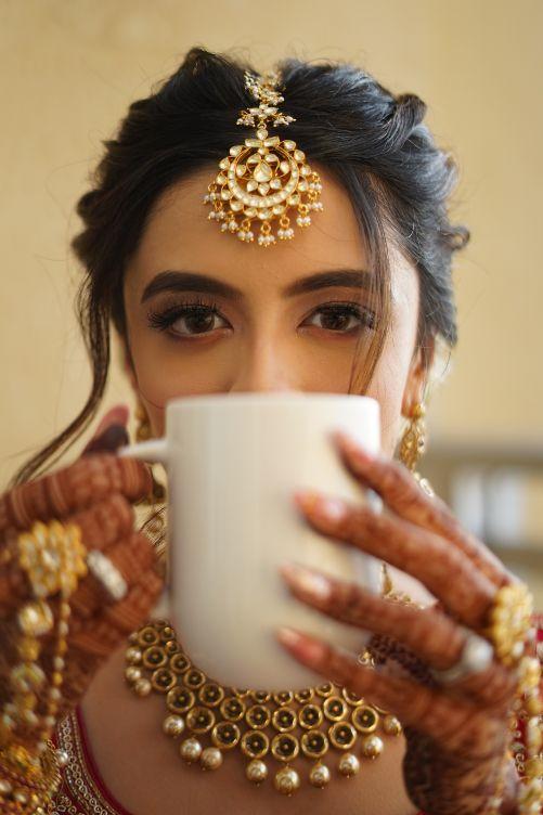 getting readt photoshoot of an Indian bride   Prettiest Mumbai Wedding