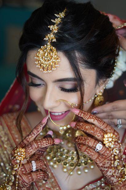 indian bridal jewellery for the wedding day   Prettiest Mumbai Wedding