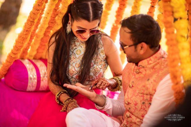 candid wedding moments | Cutest Haldi Ceremony