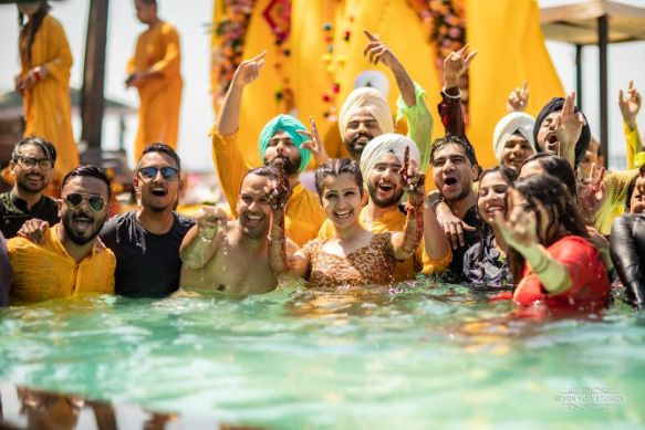 haldi day pool party |v