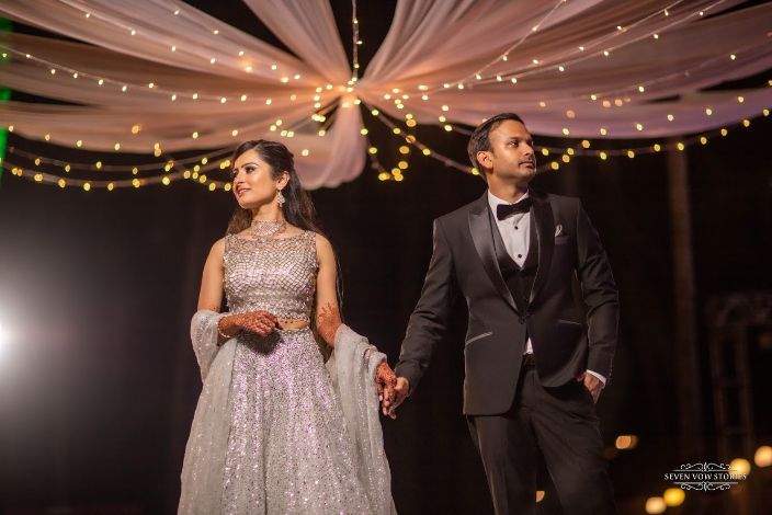 engagement day outfits for the bride and groom