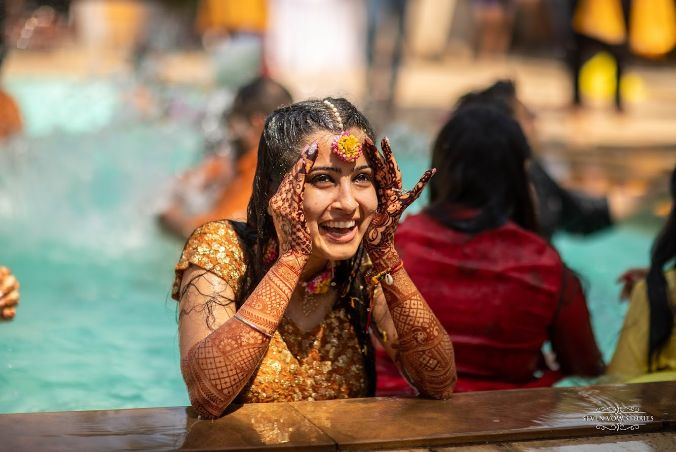 haldi ceremony | pool party | Cutest Haldi Ceremony