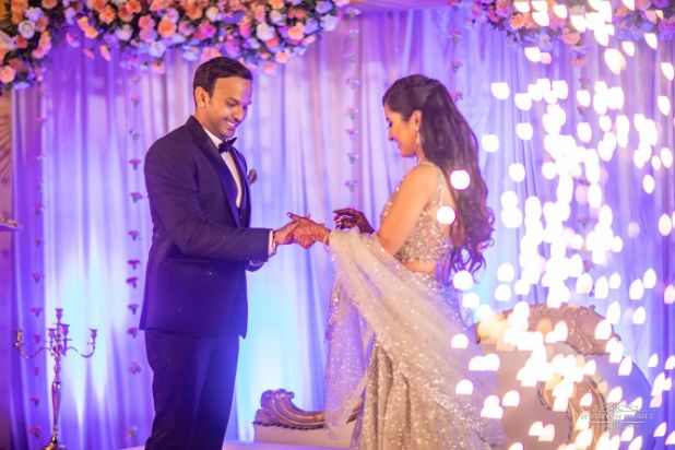 photos from indian couples engagement