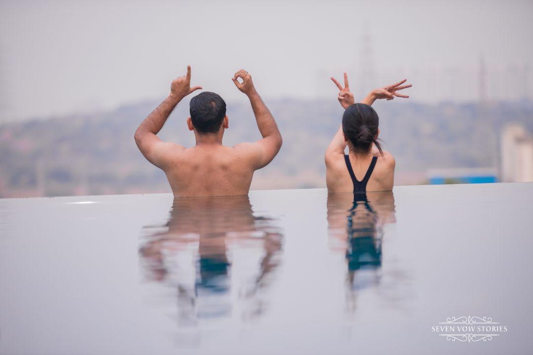 trending pool shoot ideas | pre wedding photos