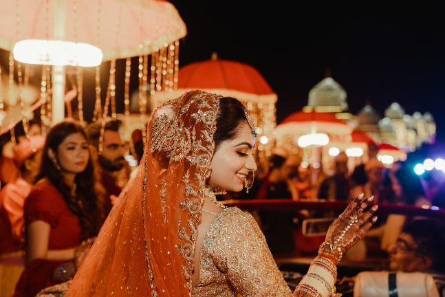 stunning bridal bun | Wedding at Ramoji Film City