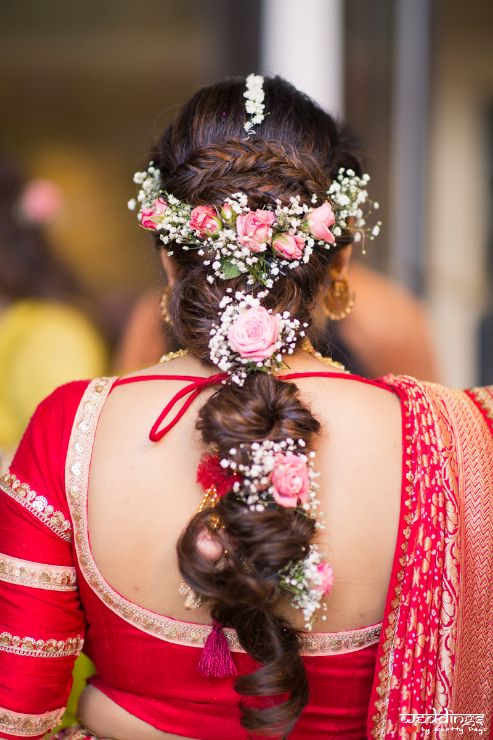 floral hairstyles | hairstyles | indian couple | reception gown | edding in Thailand Haldi outfit Wedding cake | wittyvows | indian weddongs indian bride | lehenga