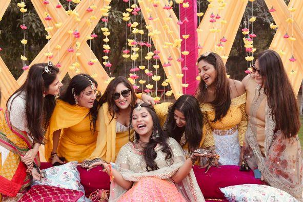 DIY wedding   wedding in Delhi   Sabyasachi lehenga   pink lehenga , indian wedding, indian bride , wittyvows