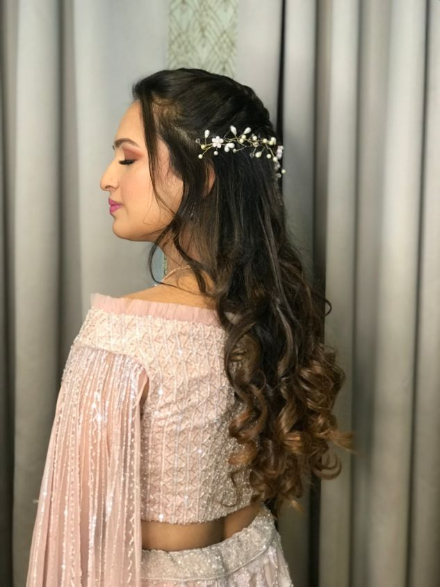bride hairstyle , floral hairstyle , indian wedding , indian bride , indian groom , hairstyle ideas, bridal hairdo
