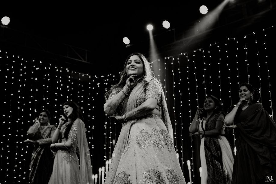 indian bride groom dancing , Rajasthani wedding | DIY lehenga design | Bridal hairdo | footear | boss bride customised | wittyvows real wedding |