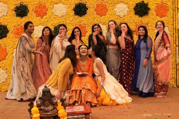 indian bridesmaid , indian girl gang , bridesmaid at haldi , best friends wedding , indian bridesmaid , wittyvows