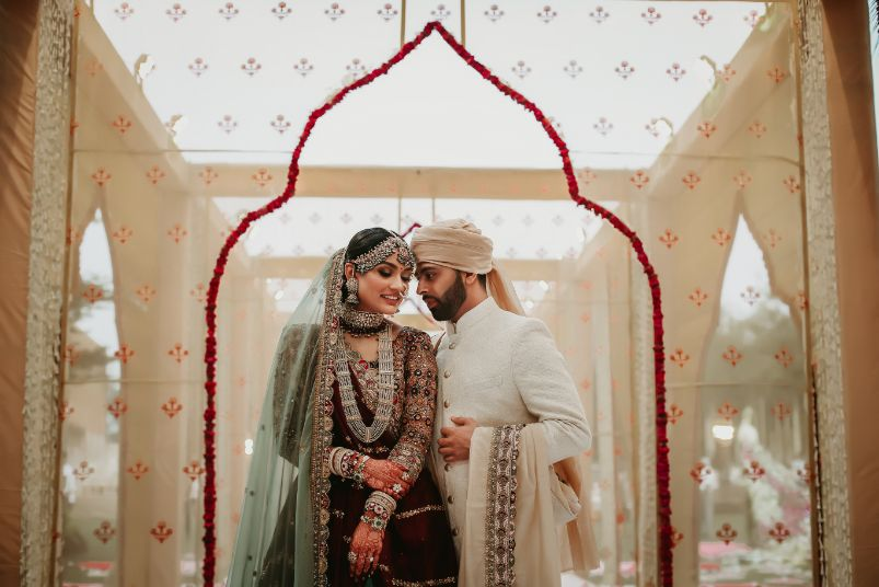 halid stage setup , indian wedding