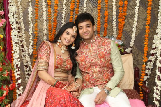 candid couple , happy couple , cheeks pulling , indian couple , wittyvows , weddings , indian bride , bridal lehenga , Lockdown wedding | intimate wedding | Wedding at home