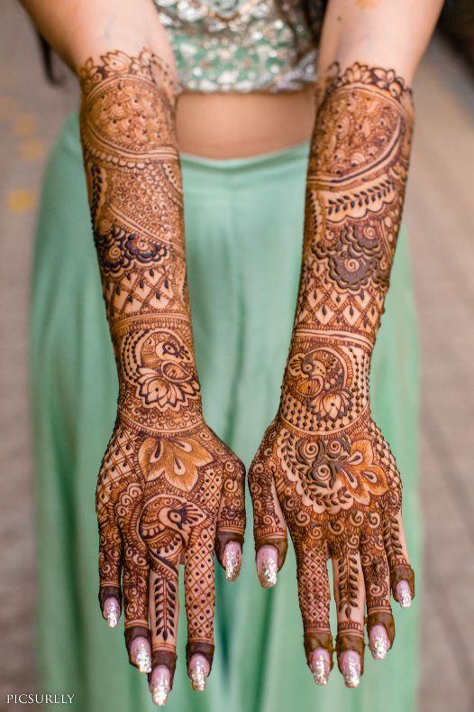 mehndi design , indian bridal mehendi , mehndi look ,mehndi