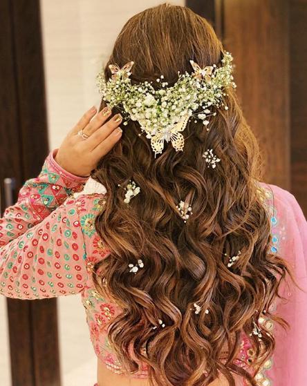indian wedding hairstyles , bridal trousseau