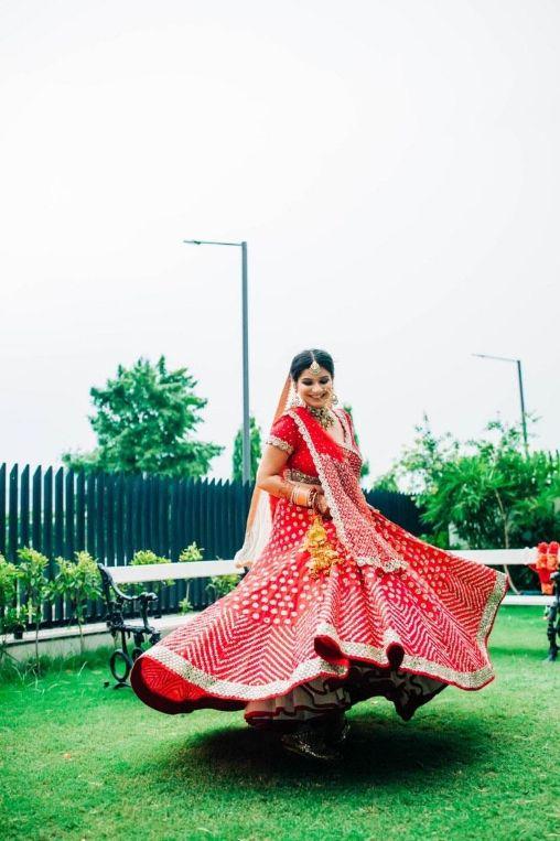 twirling , red lehenga , Abhinav mishra , bridal , indian bride , indian wedding , lockdown wedding | henna design | haldi outfit