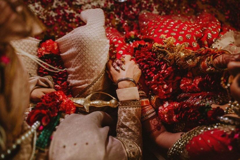 hand holding , weddings , corona wedding