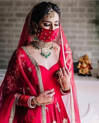 Bride in red | Bridal lehenga colors |