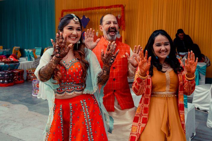 Pink lehenga | blouse design | cross cultural wedding | wedding in delhi